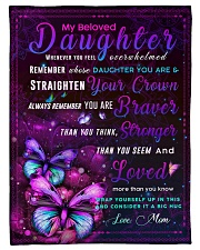"""BL10034 - Beloved Daughter Butterfly Night Small Fleece Blanket - 30"""" x 40"""" front"""