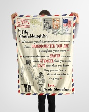 """FBL10061 To My Granddaughter Letter Family Small Fleece Blanket - 30"""" x 40"""" aos-coral-fleece-blanket-30x40-lifestyle-front-14"""