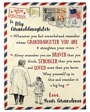 """FBL10061 To My Granddaughter Letter Family Small Fleece Blanket - 30"""" x 40"""" front"""