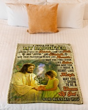 """JES10061BL -  A Prayer For Daughter Small Fleece Blanket - 30"""" x 40"""" aos-coral-fleece-blanket-30x40-lifestyle-front-04"""
