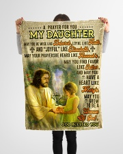 """JES10061BL -  A Prayer For Daughter Small Fleece Blanket - 30"""" x 40"""" aos-coral-fleece-blanket-30x40-lifestyle-front-14"""
