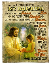 """JES10061BL -  A Prayer For Daughter Small Fleece Blanket - 30"""" x 40"""" front"""