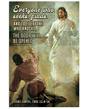 JES10029PT - Jesus Christ Everyone Who Seeks 11x17 Poster front