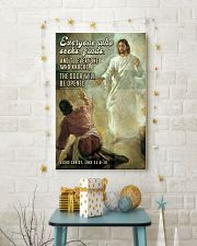 JES10029PT - Jesus Christ Everyone Who Seeks 11x17 Poster lifestyle-holiday-poster-3