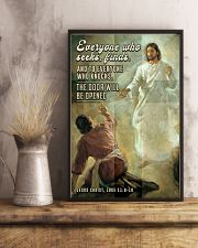 JES10029PT - Jesus Christ Everyone Who Seeks 11x17 Poster lifestyle-poster-3