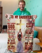 """Jes10086 - God Is Never Blind To Your Tears Small Fleece Blanket - 30"""" x 40"""" aos-coral-fleece-blanket-30x40-lifestyle-front-09"""
