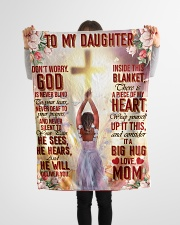 """Jes10086 - God Is Never Blind To Your Tears Small Fleece Blanket - 30"""" x 40"""" aos-coral-fleece-blanket-30x40-lifestyle-front-14"""