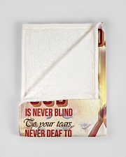 """Jes10086 - God Is Never Blind To Your Tears Small Fleece Blanket - 30"""" x 40"""" aos-coral-fleece-blanket-30x40-lifestyle-front-17"""