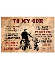 CV10004 - To My Son Motor 17x11 Poster front