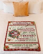 "BL10022 - Beloved Granddaughter Vintage Christmas Small Fleece Blanket - 30"" x 40"" aos-coral-fleece-blanket-30x40-lifestyle-front-04"