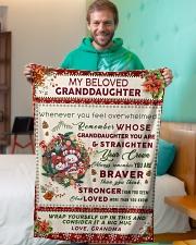 "BL10022 - Beloved Granddaughter Vintage Christmas Small Fleece Blanket - 30"" x 40"" aos-coral-fleece-blanket-30x40-lifestyle-front-09"
