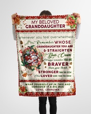 "BL10022 - Beloved Granddaughter Vintage Christmas Small Fleece Blanket - 30"" x 40"" aos-coral-fleece-blanket-30x40-lifestyle-front-14"