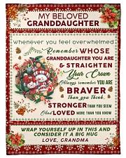 """BL10022 - Beloved Granddaughter Vintage Christmas Small Fleece Blanket - 30"""" x 40"""" front"""
