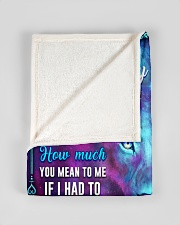 """BL10055 - To My Son Lion Dad Letter Small Fleece Blanket - 30"""" x 40"""" aos-coral-fleece-blanket-30x40-lifestyle-front-17"""