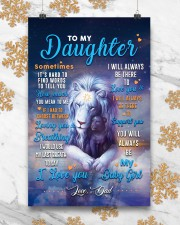 CV10025 - To My Daughter Dad Letter Lion 11x17 Poster aos-poster-portrait-11x17-lifestyle-25