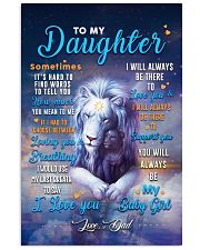CV10025 - To My Daughter Dad Letter Lion 11x17 Poster front