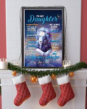 CV10025 - To My Daughter Dad Letter Lion 11x17 Poster lifestyle-holiday-poster-4