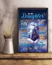 CV10025 - To My Daughter Dad Letter Lion 11x17 Poster lifestyle-poster-3