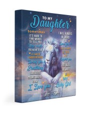 CV10025 - To My Daughter Dad Letter Lion Gallery Wrapped Canvas Prints tile