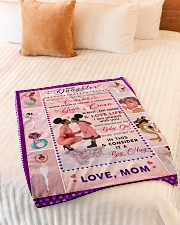 """BL10043 - To My Daughter Be My Baby Girl Small Fleece Blanket - 30"""" x 40"""" aos-coral-fleece-blanket-30x40-lifestyle-front-01"""
