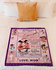 """BL10043 - To My Daughter Be My Baby Girl Small Fleece Blanket - 30"""" x 40"""" aos-coral-fleece-blanket-30x40-lifestyle-front-04"""