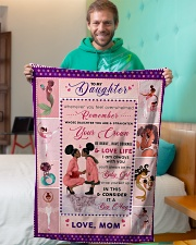 """BL10043 - To My Daughter Be My Baby Girl Small Fleece Blanket - 30"""" x 40"""" aos-coral-fleece-blanket-30x40-lifestyle-front-09"""