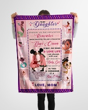 """BL10043 - To My Daughter Be My Baby Girl Small Fleece Blanket - 30"""" x 40"""" aos-coral-fleece-blanket-30x40-lifestyle-front-14"""