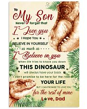 CV10022 - To My Son Dinosaur Never Forget 11x17 Poster front