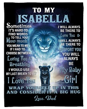 """FBC10007N - To My Isabella Lion Dad Letter Small Fleece Blanket - 30"""" x 40"""" front"""