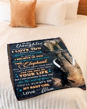 """BL10074 - To My Daughter Elephant Mom Letter Small Fleece Blanket - 30"""" x 40"""" aos-coral-fleece-blanket-30x40-lifestyle-front-01"""