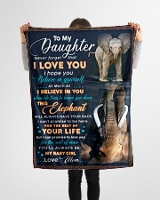 """BL10074 - To My Daughter Elephant Mom Letter Small Fleece Blanket - 30"""" x 40"""" aos-coral-fleece-blanket-30x40-lifestyle-front-14"""