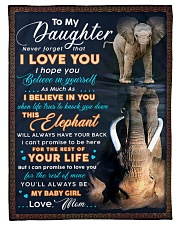 """BL10074 - To My Daughter Elephant Mom Letter Small Fleece Blanket - 30"""" x 40"""" front"""
