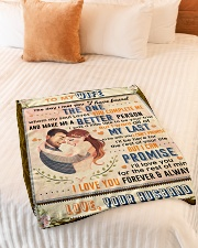 """BL10088 - To My Wife Whom My Soul Loves Small Fleece Blanket - 30"""" x 40"""" aos-coral-fleece-blanket-30x40-lifestyle-front-01"""