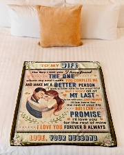 """BL10088 - To My Wife Whom My Soul Loves Small Fleece Blanket - 30"""" x 40"""" aos-coral-fleece-blanket-30x40-lifestyle-front-04"""
