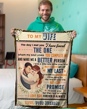 """BL10088 - To My Wife Whom My Soul Loves Small Fleece Blanket - 30"""" x 40"""" aos-coral-fleece-blanket-30x40-lifestyle-front-09"""