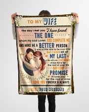 """BL10088 - To My Wife Whom My Soul Loves Small Fleece Blanket - 30"""" x 40"""" aos-coral-fleece-blanket-30x40-lifestyle-front-14"""
