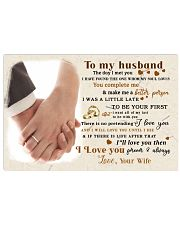 CV10001-1 - To Husband Forever Always 17x11 Poster front