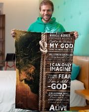 "JES10104 - Jesus Way Maker Miracle Worker Small Fleece Blanket - 30"" x 40"" aos-coral-fleece-blanket-30x40-lifestyle-front-09"