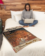 """JES10100 - You Are A Daughter Of God Small Fleece Blanket - 30"""" x 40"""" aos-coral-fleece-blanket-30x40-lifestyle-front-08"""