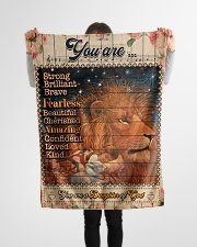 """JES10100 - You Are A Daughter Of God Small Fleece Blanket - 30"""" x 40"""" aos-coral-fleece-blanket-30x40-lifestyle-front-14"""