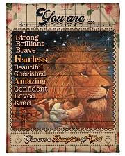 """JES10100 - You Are A Daughter Of God Small Fleece Blanket - 30"""" x 40"""" front"""