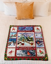 """BL10005 - Cardinals Angels Christmas Small Fleece Blanket - 30"""" x 40"""" aos-coral-fleece-blanket-30x40-lifestyle-front-04"""