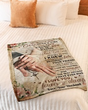 """BL10042 - My Beloved Wife Once Upon A Time Small Fleece Blanket - 30"""" x 40"""" aos-coral-fleece-blanket-30x40-lifestyle-front-01"""