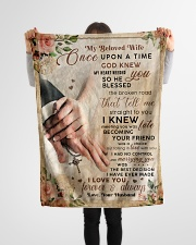 """BL10042 - My Beloved Wife Once Upon A Time Small Fleece Blanket - 30"""" x 40"""" aos-coral-fleece-blanket-30x40-lifestyle-front-14"""