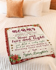 """BL10021 - To Mommy Hope Love Light Christmas Small Fleece Blanket - 30"""" x 40"""" aos-coral-fleece-blanket-30x40-lifestyle-front-01"""