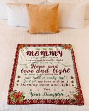 """BL10021 - To Mommy Hope Love Light Christmas Small Fleece Blanket - 30"""" x 40"""" aos-coral-fleece-blanket-30x40-lifestyle-front-04"""