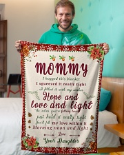 """BL10021 - To Mommy Hope Love Light Christmas Small Fleece Blanket - 30"""" x 40"""" aos-coral-fleece-blanket-30x40-lifestyle-front-09"""