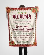 """BL10021 - To Mommy Hope Love Light Christmas Small Fleece Blanket - 30"""" x 40"""" aos-coral-fleece-blanket-30x40-lifestyle-front-14"""