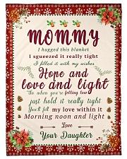 "BL10021 - To Mommy Hope Love Light Christmas Small Fleece Blanket - 30"" x 40"" front"