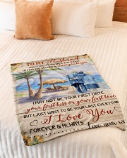 """FAM10123BL - To My Husband Love You Longer Small Fleece Blanket - 30"""" x 40"""" aos-coral-fleece-blanket-30x40-lifestyle-front-01"""